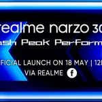 Officially: Realme Narzo 30 with MediaTek Helio G95 chip, 5000 mAh battery and triple camera will be presented on May 18