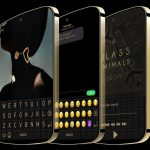 BlackBerry smartphone with display keyboard and futuristic design showed on concept renders