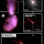 لأول مرة ، التقط علماء الفلك صورًا عن قرب لانطلاق ثقب أسود فائق الكتلة.