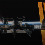Fibers were installed on the ISS, which record the level of radiation