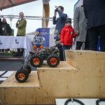 Students made a prototype of a robot to clean up the Arctic. It will be launched in tandem with a drone.
