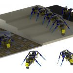 Engineer has created four-legged robots that can, like ants, build bridges from their bodies